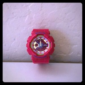Woman's Hot Pink Baby-G Watch